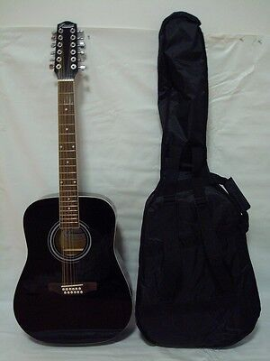 12 String Acoustic Electric Guitar /w 4 Band EQ, Free Gig Bag, Black on Rummage