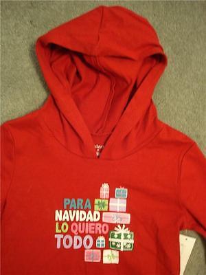Para Navidad Lo Quiero Todo Christmas Hoodie Hooded Shirt T-shirt Girls 2t