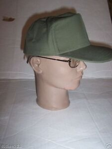 NEW-MILITARY-SURPLUS-OD-GREEN-HOT-WEATHER-CAP-HAT-6-3-4