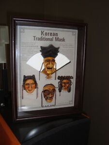 Korean Daejin Masks Play Hahoe Byeolsin Shadow Box Kitchener / Waterloo Kitchener Area image 8