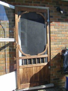 VINTAGE  rustic Screen Door ..................