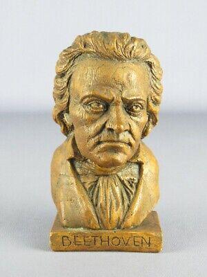 Vintage Statue Lignoceram Figure Bust Beethoven Period Xx Century
