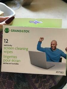Grand & Toy screen cleaning wipes 12 pack