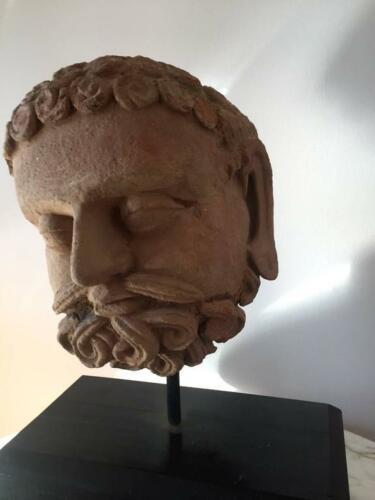 Sculpted Terracotta Gandhara Head