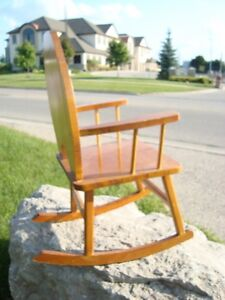 Custom Made Child or Doll Solid Wood Rocking Chair - Great Shape Kitchener / Waterloo Kitchener Area image 3