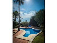Andalucian detached private villa 3 bedroom 60 meters (2 min walk) from the beach!