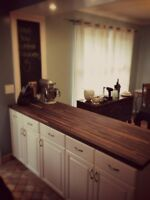 Countertops and Butcher Blocks