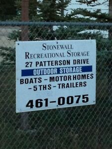 Outdoor Winter R.V. Storage in Stonewall