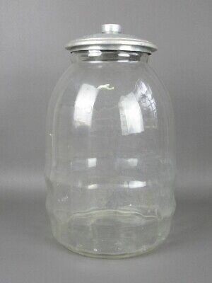Antique Jar Container for bar Pastry Glass Blown Years' 50