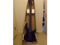 Dean E5 EMG CBK Edge 5 String Bass Guitar - Black. New!