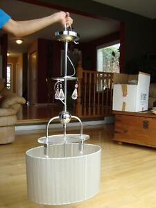 "Hanging Chrome Swivel Lamp - 29"" long x 14"" wide - Works Perfect Kitchener / Waterloo Kitchener Area image 2"