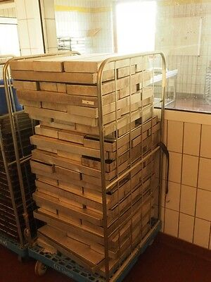 10 Stück ALU Schnittkuchenblech Backblech Küchenblech 20 x 59 x 5 cm