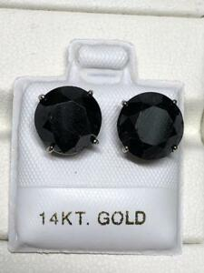 14k Gold Black Diamond Stud Earrings (8.14ctw)