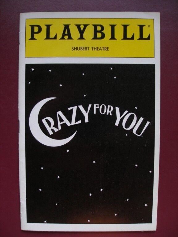 Crazy For You Playbill Karen Ziemba James Brennan Bruce Adler  Beth Leavel 1995