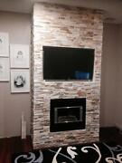 Stacked stone feature wall cladding stone cladding Malaga Swan Area Preview