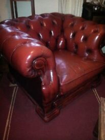 Original 1920's Art Deco Gentleman's Chesterfield Club Chair...