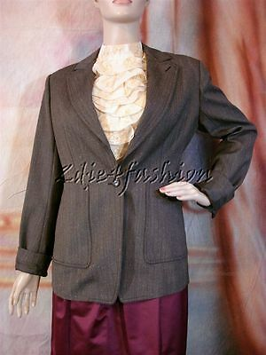 $1950 New YSL YVES SAINT LAURENT Charcoal Gray Wool Tweed Blazer Jacket 42 10
