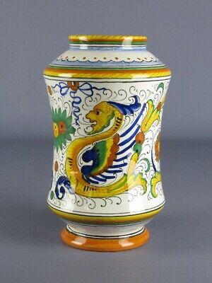 Deruta Vintage Vase Aang Majolica Painted Shapes Winging Period Xx Century