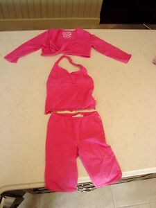 Girls Three Piece Summer Ensemble - 4T Top and 3T pants -Mint