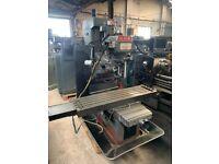 XYZ DPM CNC 3 AXIS BED MILLING MACHINE