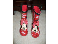 Disney Minnie Mouse Wellington Boots/ Wellies size 11 (EU 29). Like new condition! Worn once...