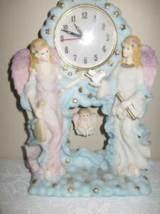Angel Clock with Cherubs - pristine condition