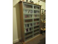 Glass front cd cabinet