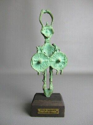 Sardinia Nuragica Statue Sculpture Bronze Soldier From 'Antique Civiltà'