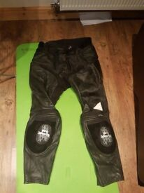 Hein Gericke Pro Sport Leather Motorcycle Trousers. Size 56