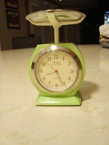 """Urban Station Heavy Cast Weigh Scale Clock - 4.5"""" tall x3"""" Kitchener / Waterloo Kitchener Area image 5"""