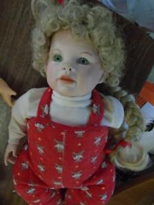 Girl Doll with Long Blonde Hair