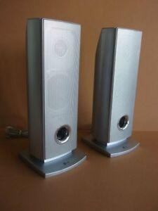 LG Two Speakers with Wires, Excellent Condition