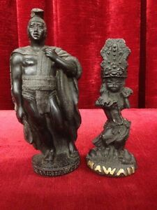 King Kamehameha1 & Hula Dancing Protector Figures Hawaii 1974 Windsor Region Ontario image 1