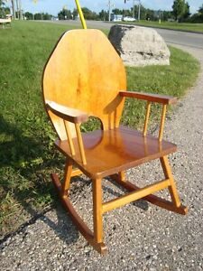 Custom Made Child or Doll Solid Wood Rocking Chair - Great Shape Kitchener / Waterloo Kitchener Area image 1