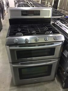 "Maytag 30"" Double Oven All Gas Stainless Steel Range $899"