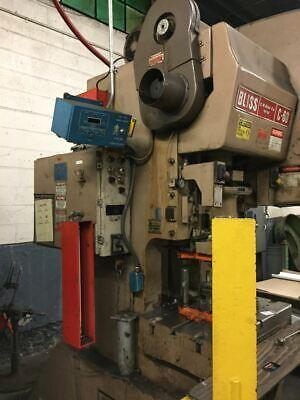 60 Ton Bliss Obi Press 4 Stroke 3 Ram Adjustment 14 14 Shut Height 32 X 21