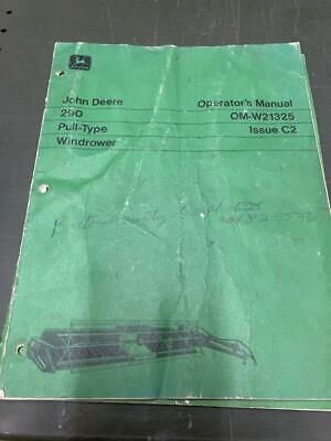 John Deere 290 Pull-type Windrower Owners Manual