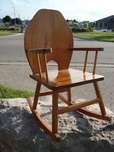 Custom Made Child or Doll Solid Wood Rocking Chair - Great Shape Kitchener / Waterloo Kitchener Area image 5