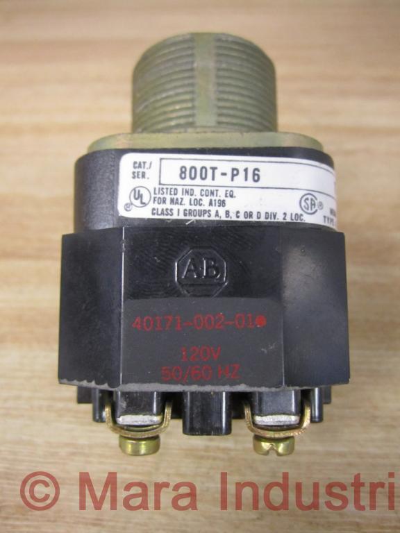 Allen Bradley 800T-P16 Pilot Light W/Transformer