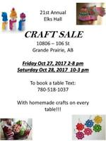 21st Annual Elk's Hall Craft Sale
