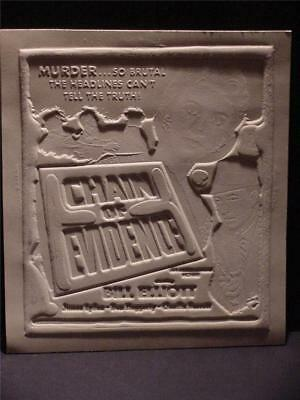 Bill Elliott Claudia Barrett Chain Of Evidence Movie Ad Mat Rare Memorabilia