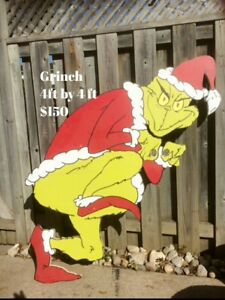 Outdoor Christmas Characters (the grinch,cindy lou,max,frosty...