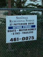 Outdoor R.V. Storage in Stonewall