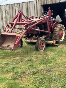 Farmall SuperA tractor with loader and mower