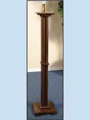 Walnut Candle Stand - Walnut Stain Paschal Candle Stand Maple Hard Wood