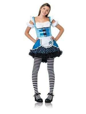 Magic Mushroom Alice in Wonderland Teen Girls Junior Size Costume New SM / MD
