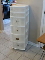 Plastic 6 Drawer Unit with Wheels