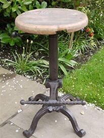 Rustic Tractor Seat/Bar Stool Vintage Iron/Wood Stool