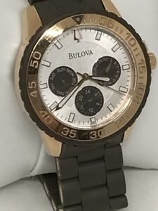 Bulova Stainless Steel Chronological Watch