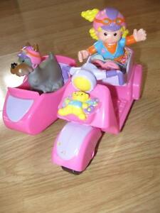 Fisher Price Little People Motorcycle and Sidecar